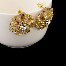 earrings gold design low vintage gold designs earring for women luxury wedding