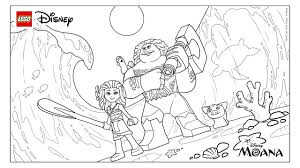 moana movie trailer coloring page activities disney lego com