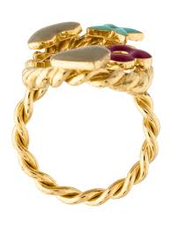 monogram ring gold lyst louis vuitton enamel sweet monogram ring gold in metallic