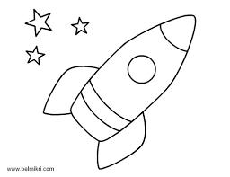 Coloriage Fusée maternelle dessin gratuit à imprimer