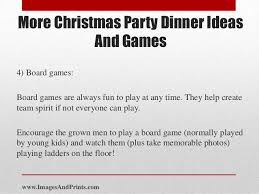 Games To Play In Christmas Parties - more christmas party dinner ideas and games