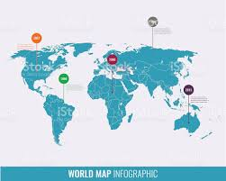 2007 World Map by World Map Infographic Template All Countries Are Selectable Stock