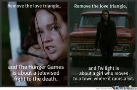 hunger games vs twilight by beelzebub meme center