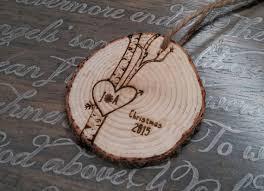 birch tree ornament personalized ornaments