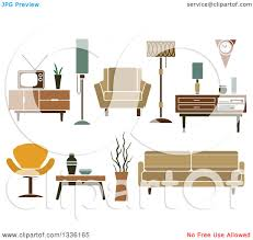 household furniture clipart of retro household furniture 5 royalty free vector