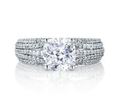 cushion engagement rings five row diamond dazzling cushion engagement ring engagement rings