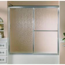 glass sliding shower doors sterling deluxe 59 3 8 in x 56 1 4 in framed sliding bathtub