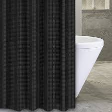 Black Ivory Curtains Popular Bath Products Waffle Stripe 72