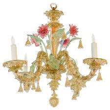 Multi Coloured Chandeliers Antique Italian Murano Multi Color Chandelier For Sale At 1stdibs