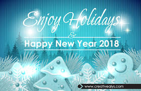 enjoy holidays happy new year 2018 creative alys