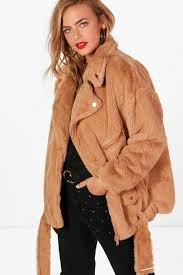 boo hoo clothing boutique faux fur aviator jacket boohoo