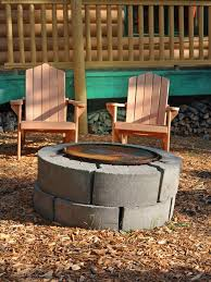 Backyard Landscaping With Fire Pit - cinder block fire pits design ideas hgtv