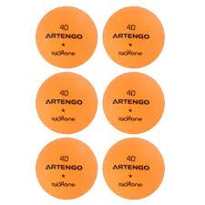 Housse Table De Ping Pong Decathlon by Balles De Tennis De Table Fb800 Orange Lot De 6 Artengo