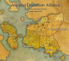 Elder Scrolls Map Aldmeri Dominion Alliance Map Eso Game Maps Com