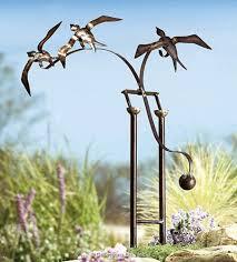 stunning bird statues garden decor birds in flight eclectic garden