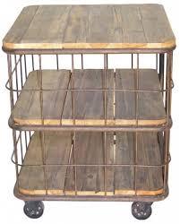 canapé sur roulettes meuble de rangement bout de canapé table d appoint bois recyclé