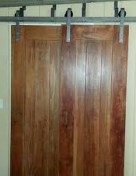 Diy Bypass Barn Door Hardware by Sliding Door Hardware On A Ledger Board Instead Of Fastening The