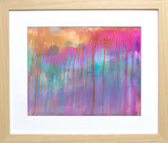 Paint Colorful - fuchsia art colorful abstract painting colorful wall art alcohol