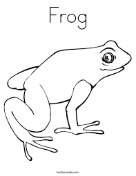 Frog Coloring Page Twisty Noodle Frog Colouring Page