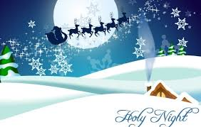 winter christmas santa claus reindeer vectors free vector
