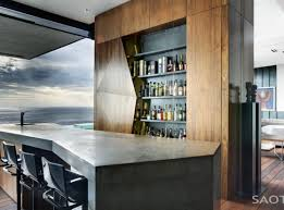 bar awesome white brown wood stainless glass modern design home