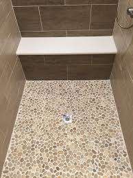 bathroom pebble tiles for create an even surface threestems com