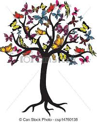 butterfly tree vector graphic vectors search clip