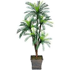 one 6 palm artificial tree with 5 heads with