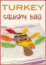 make a turkey squishy bag sensory activity sensory activities