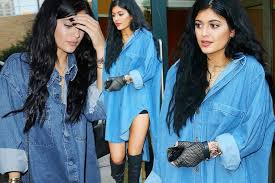 jenner hair extensions jenner shows grown up new look in knee high boots and hair