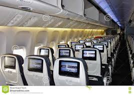 boeing 777 300er sieges economy class seats on an air canada boeing 777 editorial stock