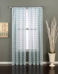 Chevron Design Curtains Chevron Print Sheer Curtain Panel Curtainworks Com