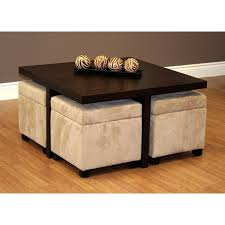 coffee table with storage ottomans club coffee table with 4