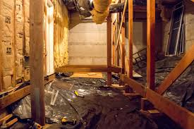 basement how to frame a floor in an unfinished crawl space