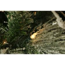 fraser hill farm 12 ft flocked snowy pine tree with