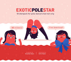 dancing emoji gif stickerpack exotic pole star on behance