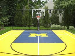 Basketball Court In Backyard Cost by Backyard Small Basketball Court Landscaping Gardening Ideas