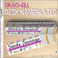 how to keep the hassle out of desk nameplates u2022 engaging teaching