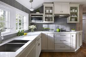 pictures of kitchens with gray cabinets kitchen trend colors gray tiles shape a lovely background in the
