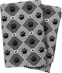 hearts and kitchen collection paws hearts kitchen waffle towels set of 2 paws hearts