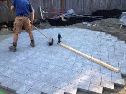 Cutting Patio Pavers Paver Patio Kidney Bean How To Cut Patio Stones 1