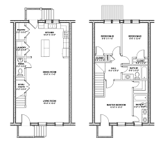 Modern Row House by Floor Plans Historic Homes House Design Ideas