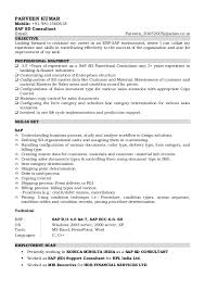 Hr Consultant Resume Sample by Sap Consultant Cover Letter