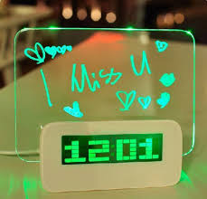 amazon com 5 led message board with highlighter digital alarm
