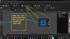 color correction selected tool coreldraw graphics suite x8
