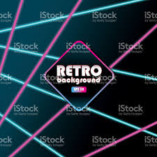 80s laser beam background design templates colorful stock