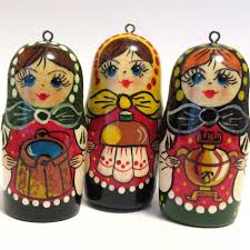 ornaments set russian matryoshka russian ornaments