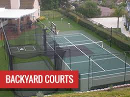 Backyard Tennis Courts Sport Court Builders Of New England