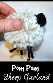 coffee with us 3 pom pom sheep garlandpom pom sheep garland