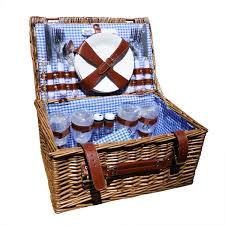 picnic basket for 4 wicker picnic basket set 4 person picnic basket set with